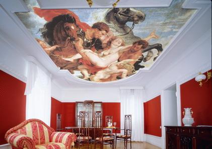 Натяжные потолки, дизайнерские вариантые. Купить.