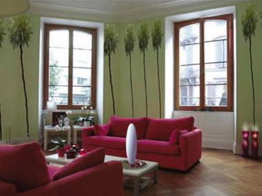 Натяжные потолки, драпировка стен. Фото.